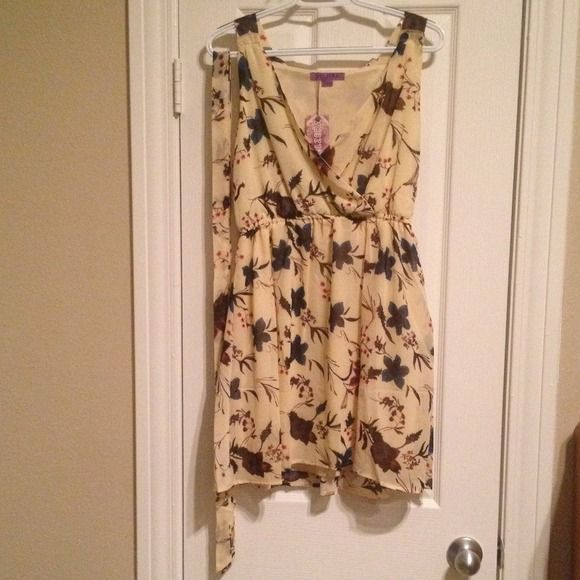 Velzera flowery dress Velzera flowery dress with included belt. Hits mid thigh. Light and summery. No zippers. Slip on. Velzera Dresses