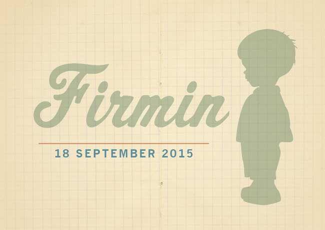 Retro geboortekaartje silhouet jongen vintage door HierBenIk.be   origineel   retro   vintage   babykaartje    kraft