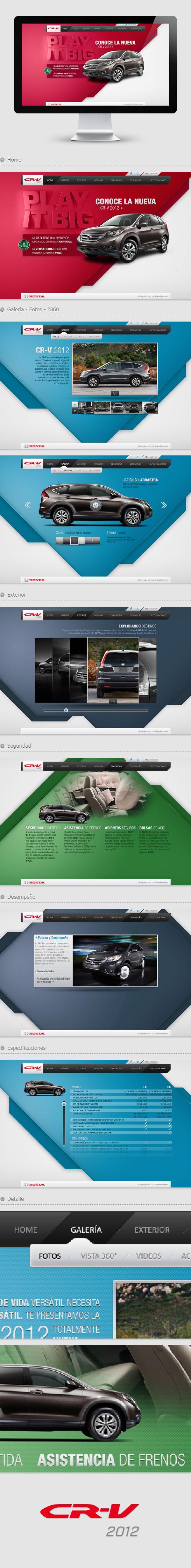 CR - V 2012 - Honda on Web Design Served