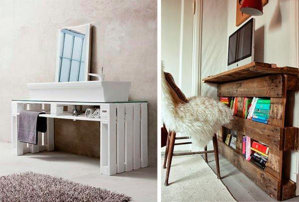 Muebles ba o hecho con palets buscar con google muebles de palets pinterest search - Muebles bano originales ...