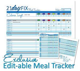 To Insanity & Back: 21 Day FIX Sneak PEEK!! WITH bonus editable PDF Meal Tracker Download (FREE)
