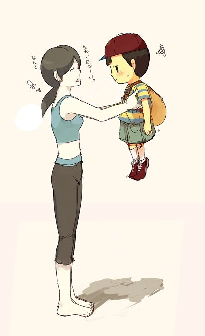 Wii Fit Trainer and Ness