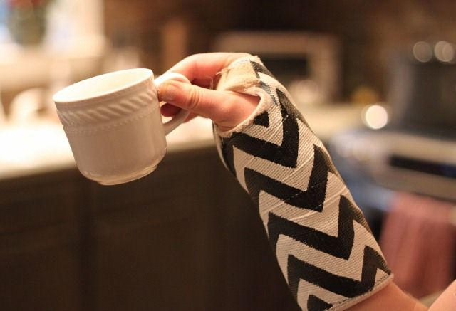 If I ever break an arm, I will be painting chevron stripes on my cast!