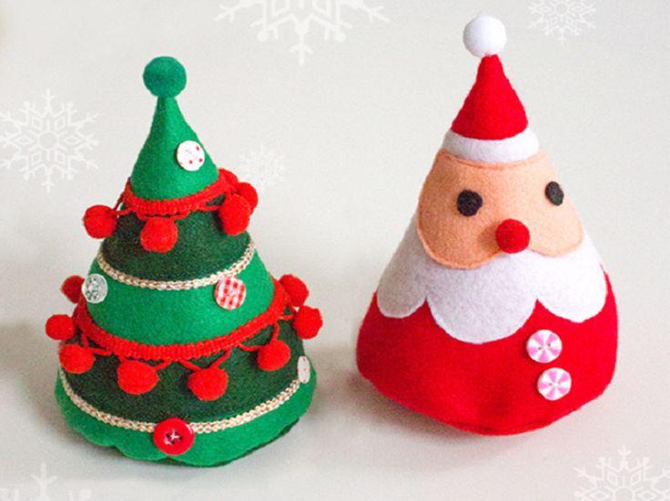 Tutorial DIY: Wykonaj świąteczne ozdoby z filcu przez DaWanda.com
