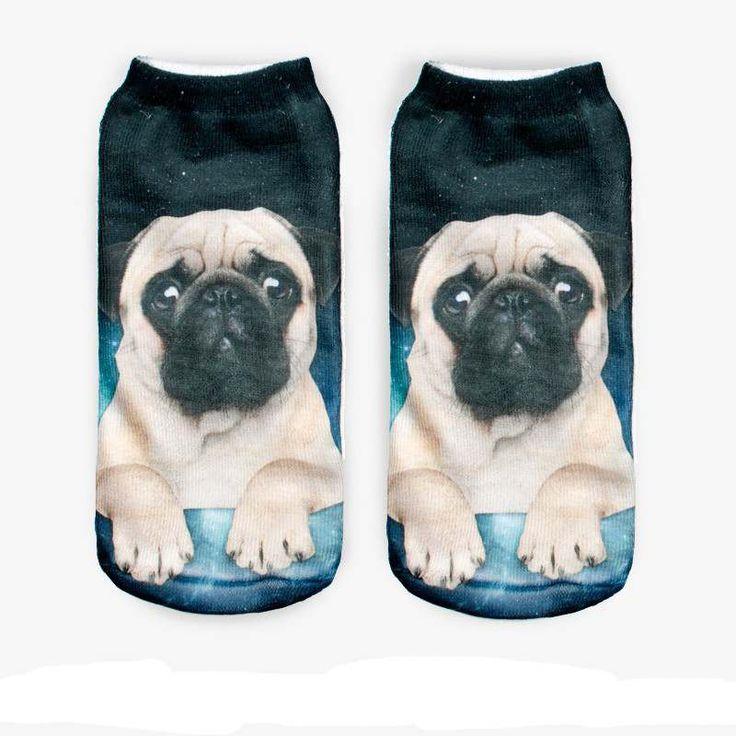 $0.88// 3D printed Pug Socks// Delivery: 6-9 weeks