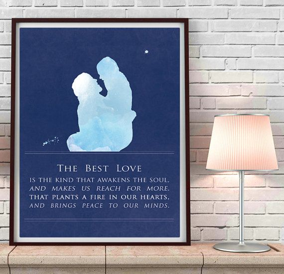 The Notebook art print, The Notebook, blue bedroom, newlywed gift, wedding gift, blue watercolor
