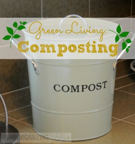 More green living: composting ~Love this cute little pot. Would be great to also have one for scrapes for the chickens.~
