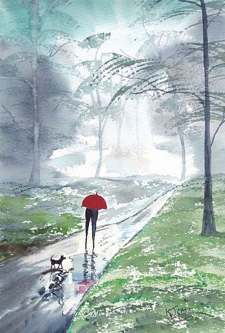 """Rainy Day A Forest Walk"" by KJ Carr"