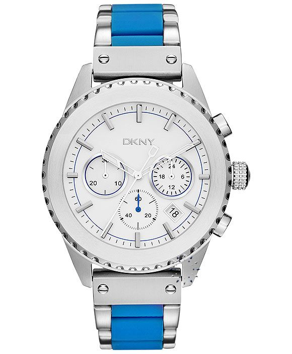 DKNY Chronograph Blue Ceramic Stainless Steel Η τιμή μας: 224€ http://www.oroloi.gr/product_info.php?products_id=33520