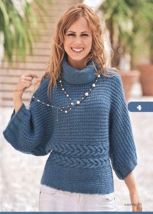 Пуловер-кимоно, опять же моего любимого цвета). Обсуждение на LiveInternet - Российский Сервис Онлайн-Дневников