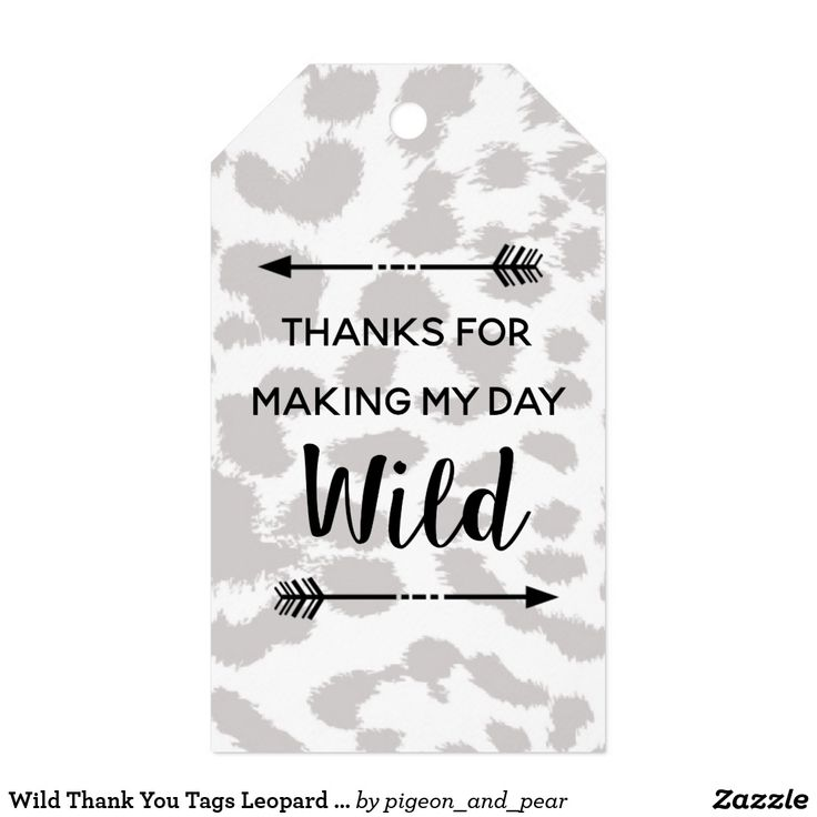 Wild Thank You Tags Leopard print