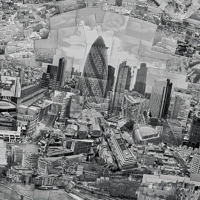 London - a patchwork of around 4,000 Black and White photographs by Japanese artist Sohei Nishino.