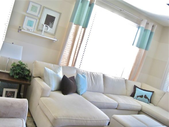 Simply Chic living roomLiving Room, Pottery Barn