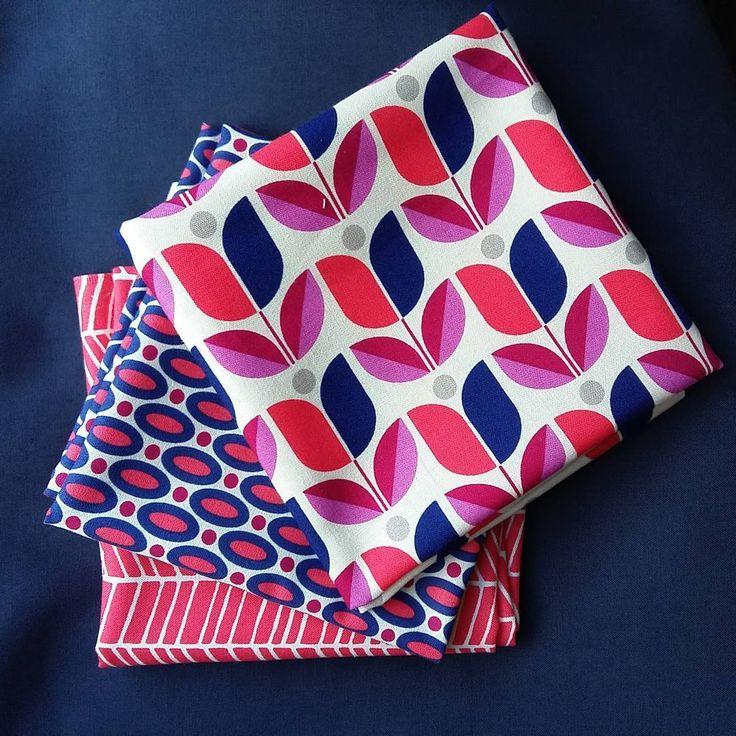 Świetny zestaw tkanin z kolekcji Flora by Joel Dewberry for Free Spirit - w Ładnych tkaninach