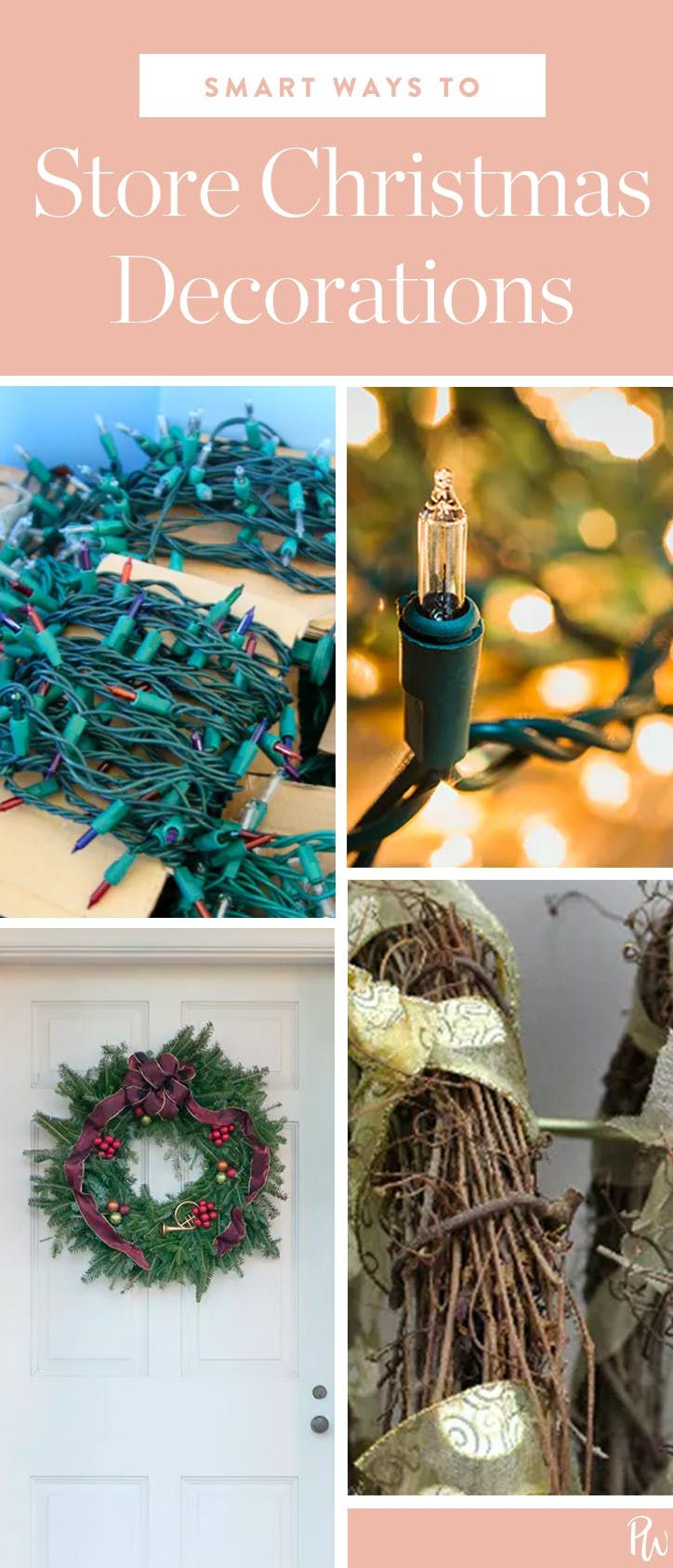 Pretty Christmas Decor You Can Make Yourself Storing Christmas Decorations Holiday Organization Christmas Decorations