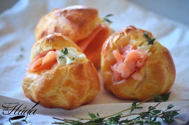 Profiteroles salados o petit choux salados #receta de #cocina