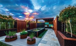 """Outdeco Outdoor Decorative Screen Panels were featured in thei """"Best in Show"""" Show Garden in Perth Garden Festival. Designed by INEXPro Landscaping."""