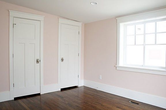 love this wall color = Benjamin Moore Peace and Happiness.  I would love to redo the girls room in this or a new room in a new home.  Too cool.