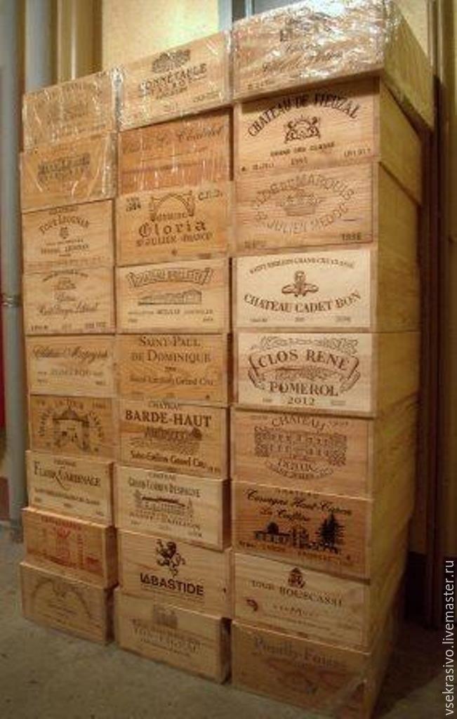 Купить или заказать Винный ящик декоративный в интернет-магазине на Ярмарке Мастеров. Деревянный ящик (массив) с оригинальным винным фасадом. Большой и вместительный, но легкий. Идеален для творческих идей, будет хорош на роликах…