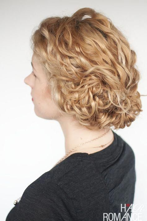 Hair Romance – Curly Hair Tutorial – easy curly updo #simpleUpdos