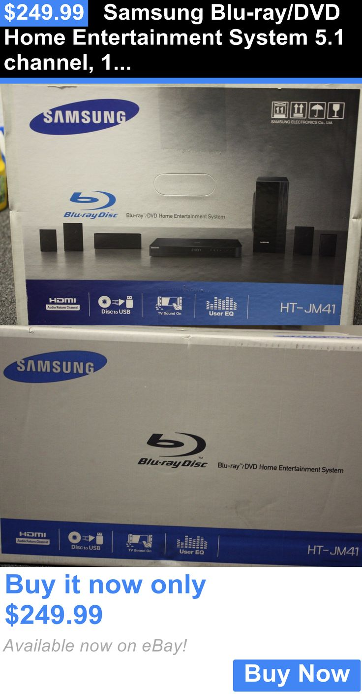 Home Theater Systems: Samsung Blu-Ray/Dvd Home Entertainment System 5.1 Channel, 1000W, 5 Speaker, Sub BUY IT NOW ONLY: $249.99