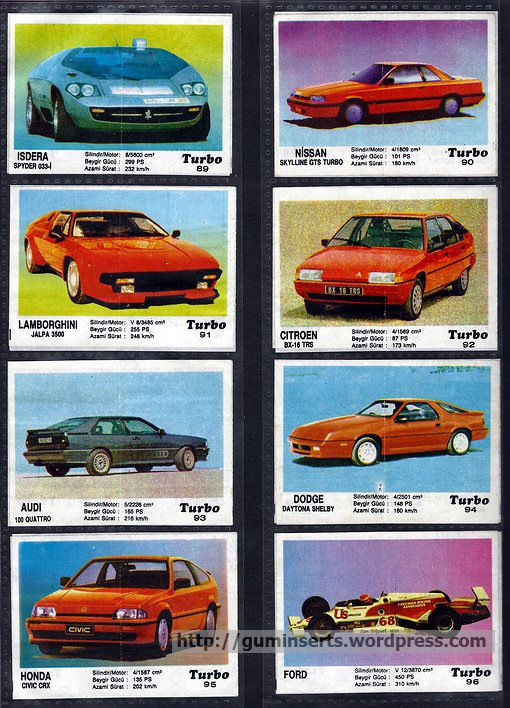 Turbo 51-120 | My Bubble Gum Inserts Collection