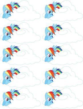 Mi pequeño Pony Rainbow dash etiquetas Favor de aduana por SewSazzy