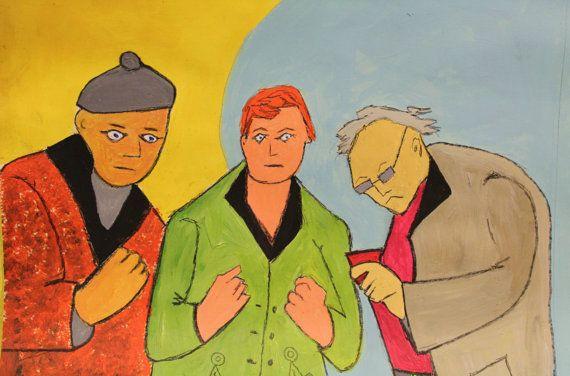 Men will be Men. by PaintingsbyKuchera on Etsy