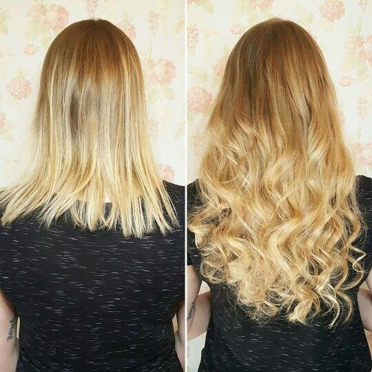 100 grams of fusions in a 3 colour blend! <3  #HairExtensions #Curls #Ombre #Longhair #BeachWaves
