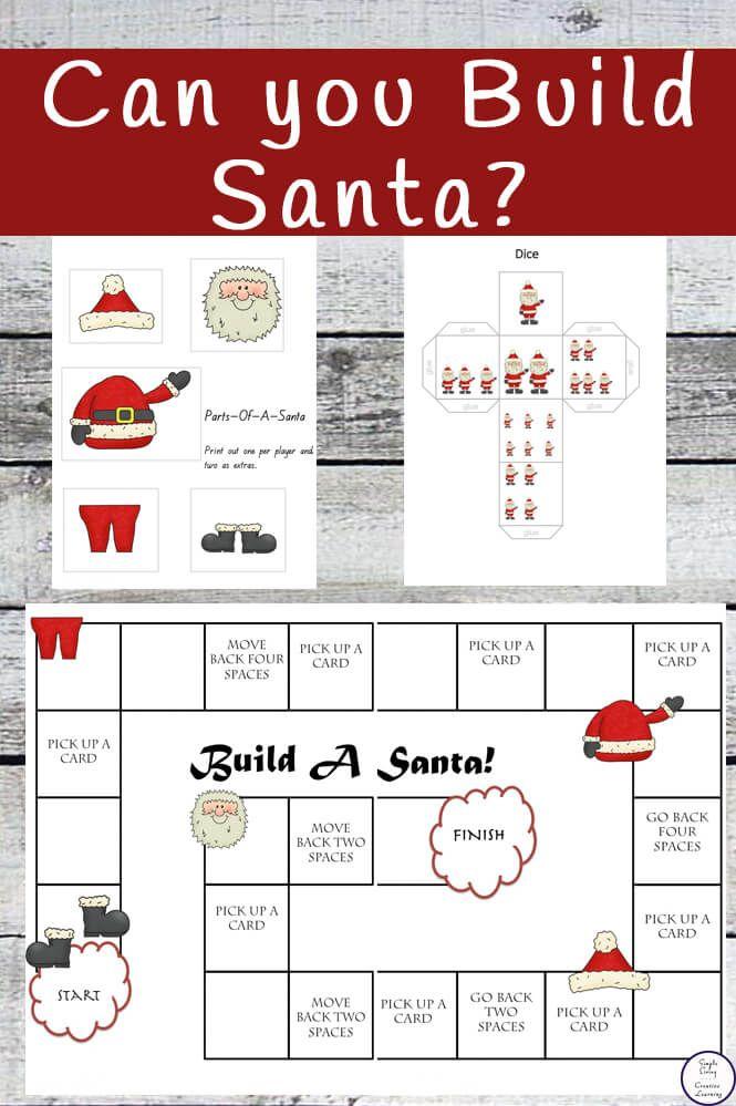 Build A Santa Board Game Christmas Board Games Classroom Holiday Crafts Christmas Learning