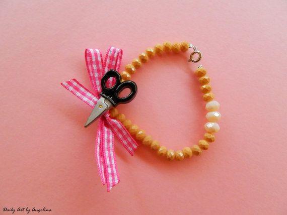 Crafting themed bracelet by DailyArtbyAngelina on Etsy
