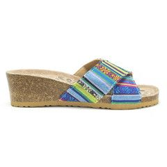 With bright colors like MUK LUKS Helene Wedge Sandals, you will never be in  a bad mood again! The cool floral sequince and multi colored striped sandals  are ...