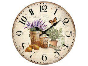 Nástěnné hodiny - zátiší Provence, 34 cm