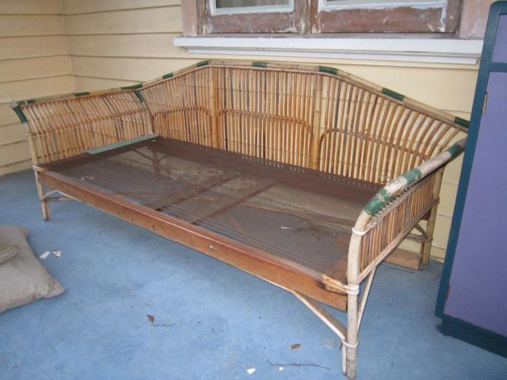 Vintage Cane Lounge Daybed Ebay Daybed Antique