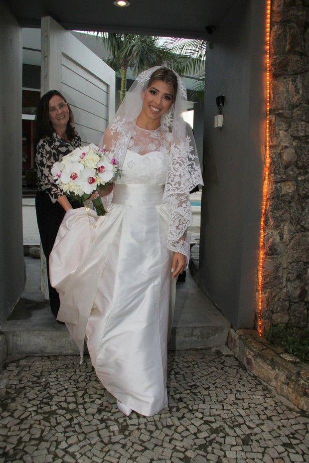 Roberta, noiva de Marcelo Serrado