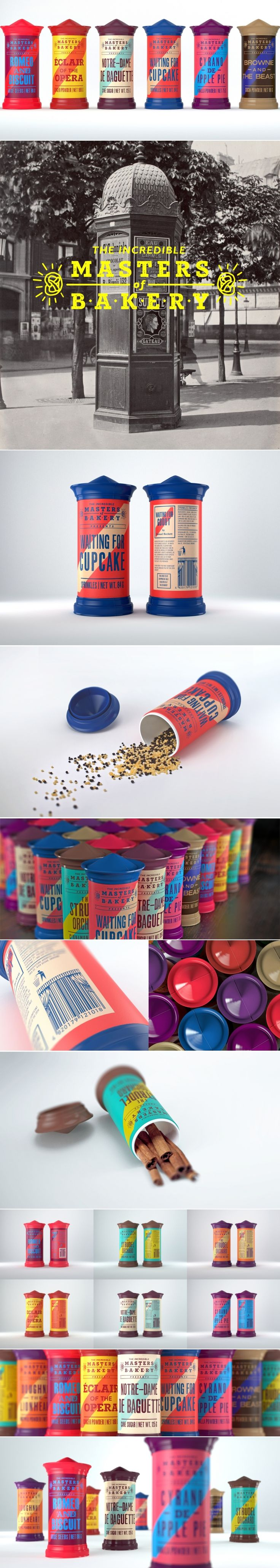 Masters of Bakery: Gift Bakery Spice Set — The Dieline | Packaging & Branding Design & Innovation News