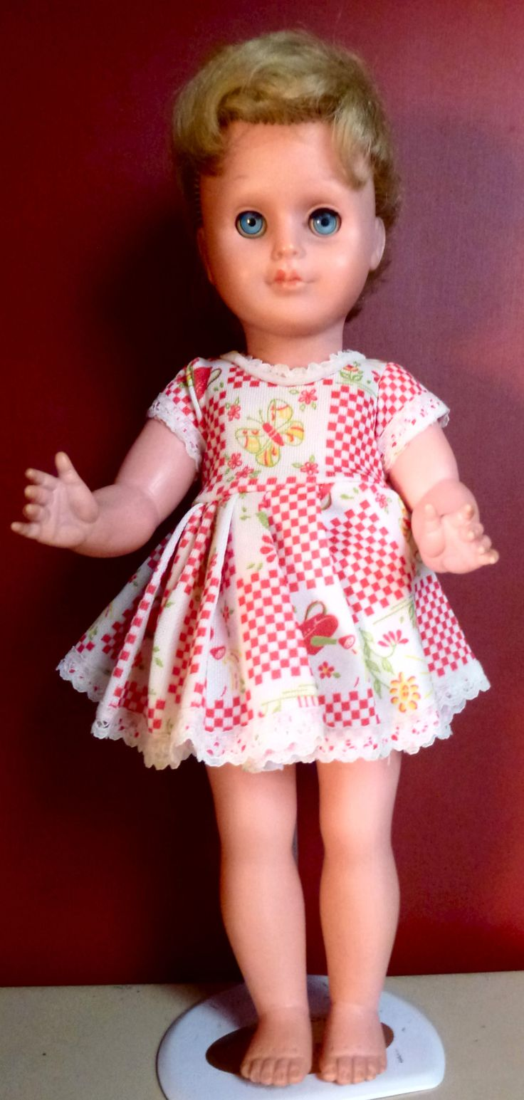 1960s-70s plastic Crolly Doll, who has had a bad haircut some time in the past!