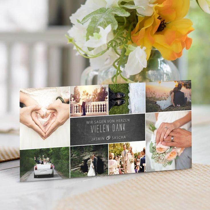 Dankeskarte Hochzeit Fotogalerie inkl. Textdruck ab 72...