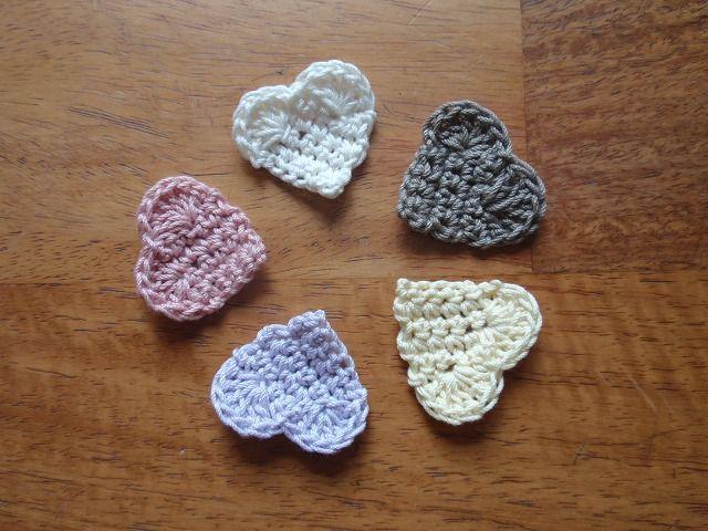 簡単ハートのミニモチーフ♪の作り方|編み物|編み物・手芸・ソーイング|ハンドメイド・手芸レシピならアトリエ