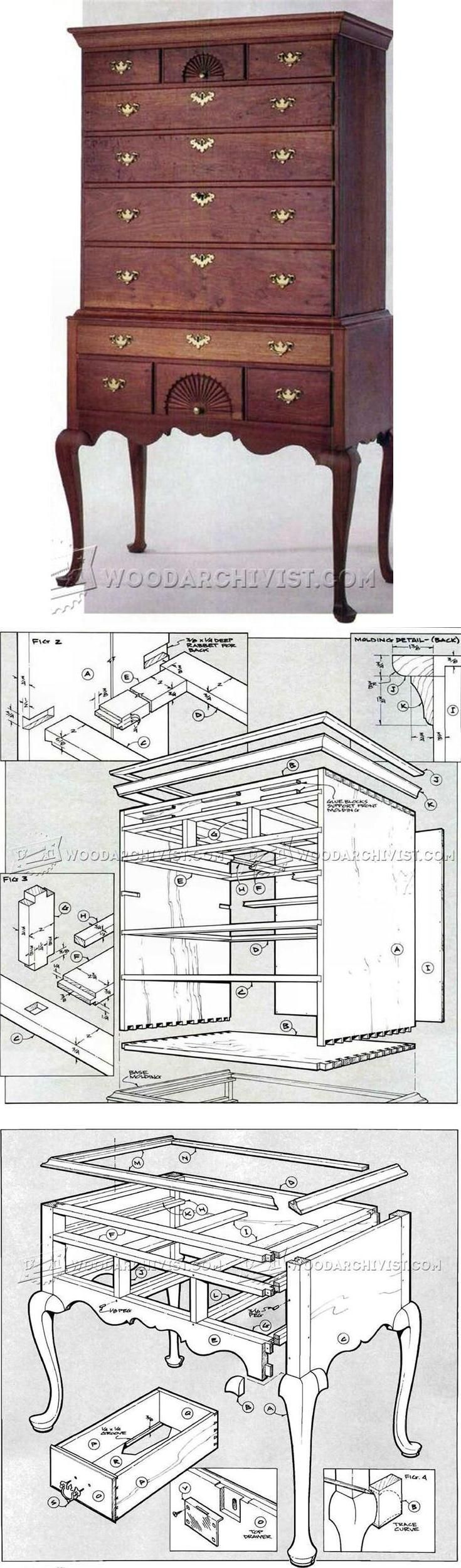 Connecticut River Valley Highboy Plans - Furniture Plans and Projects   WoodArchivist.com
