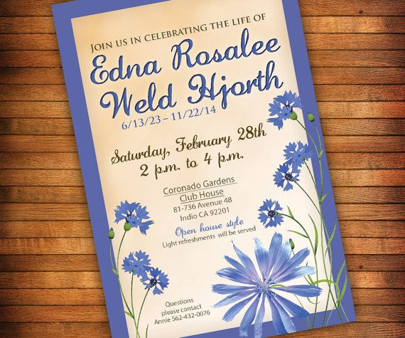 9 best moms memorial images on Pinterest Memorial ideas, Funeral - funeral invitation cards