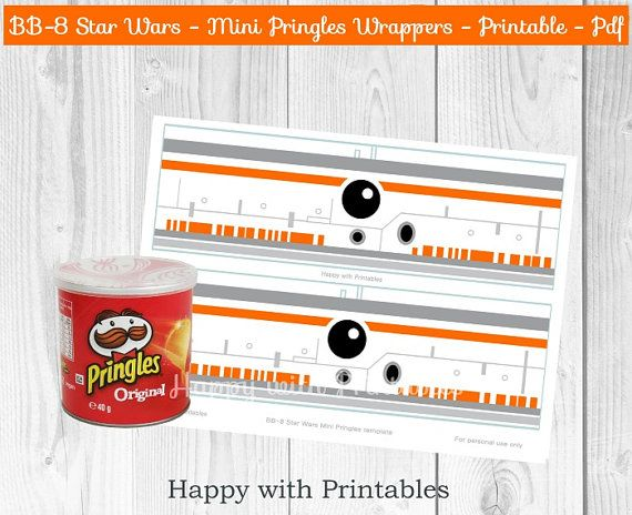 BB-8 Star Wars Mini Pringles wrappers - BB8 wrappers - Mini Pringles wrappers…