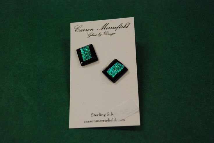 unique square glass earrings by Carson Merriefield
