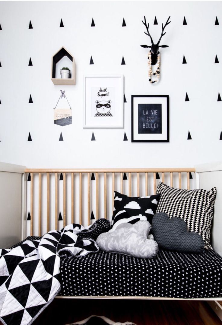 Black and white monochrome nursery by NotSewStrange