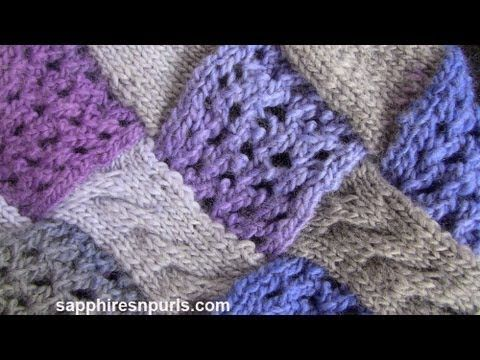 ▶ Entrelac in the Round / Seamless Entrelac - YouTube
