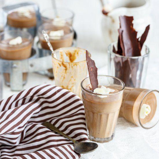 Chocolate Panna Cotta  Chocolate Panna Cotta with Vegetarian alternative to Gelatine