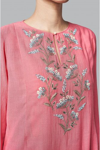 The aboli hued Daarya Suit boasts of its summer floral motifs. With Gota Patti, Zari, Kad dana, sequin and Dori work, the cotton georgette suit is a must have this season. Paired with matching churidaar and dupatta. Style Tip:Pair this set with our embroidered mojris and pearl drop earrings Fabric:Cotton Georgette Content:45% COTTON / 55% VISCOSE Production time:We require 4-5 weeks to dispatch this outfit