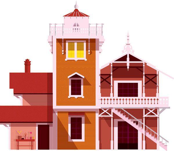 East Brother Island Lighthouse by Dorus Verwiel, via Behance