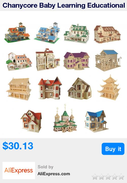 Chanycore Baby Learning Educational Wooden Toys 3D Puzzle Building House Villa Church Farmhouse Tower European Kids Gifts 4311 * Pub Date: 06:01 Jun 30 2017