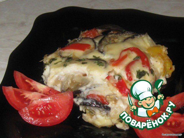 Баклажаны в сырном соусе - кулинарный рецепт